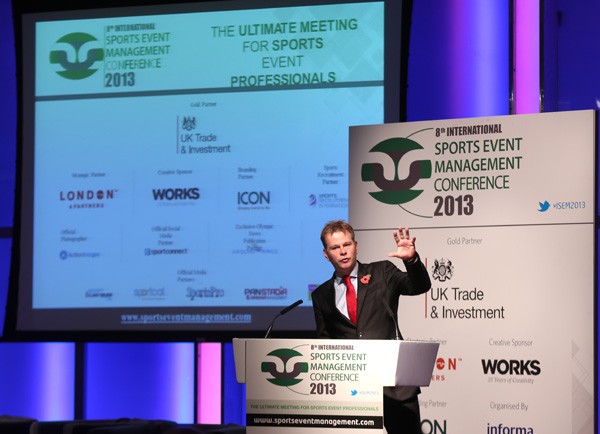 James Pearce at the Sports Management Conference